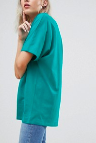 ASOS DESIGN super oversized t-shirt with kimono sleeve in bright green