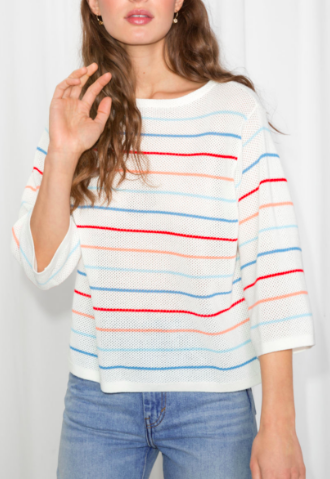 Stories Striped Oversized Top