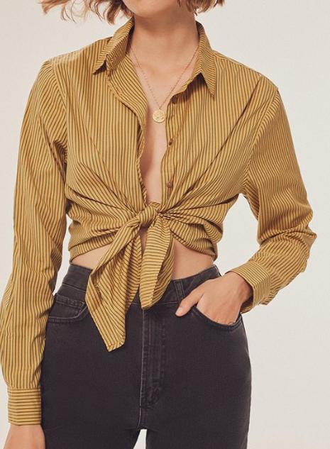 UO Peyton Perfect Button-Down Shirt