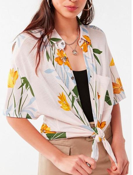 UO Noah Longline Button-Down Shirt