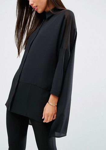 ASOS DESIGN soft shirt in sheer and solid