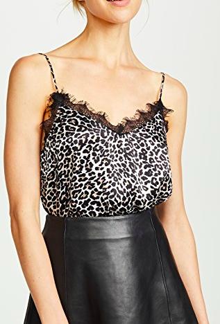 ANINE BING Leopard Silk Cami