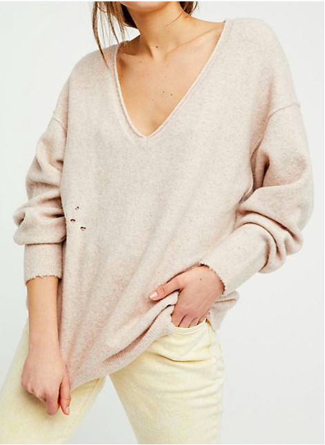 FP Ripped And Torn Cashmere Pullover