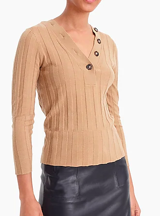 J.Crew 365 stretch long-sleeve ribbed henley