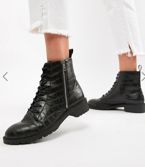 ASOS DESIGN Adrian lace up ankle boots