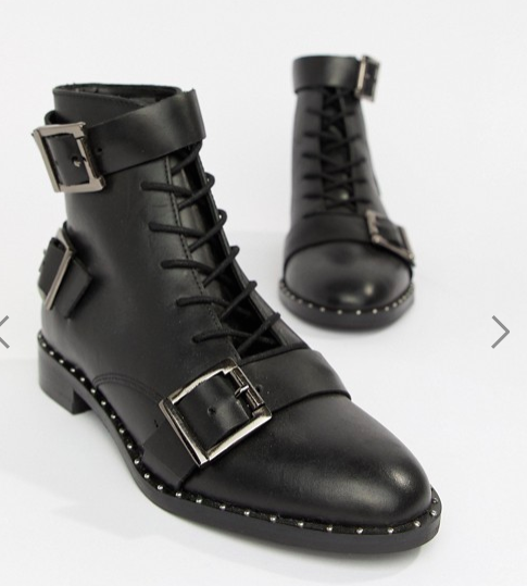 ASOS DESIGN Arabelle leather lace up boots