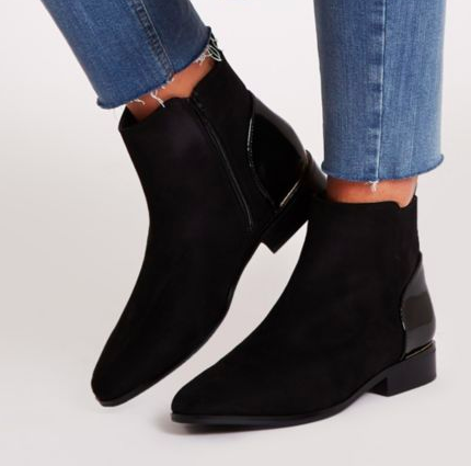 RIVER ISLAND Black ankle chelsea boot