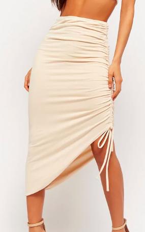 Forever 21 Ruched Midi Skirt