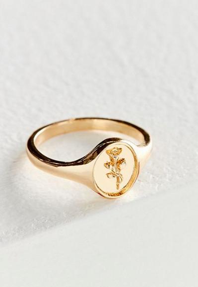UO Rose Signet Ring