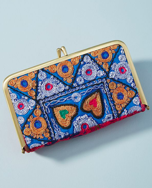 Anthropologie Moroccan Tile Print Clutch