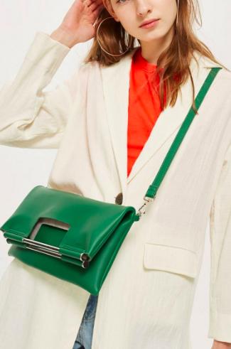 Topshop Metal Handle Clutch Bag
