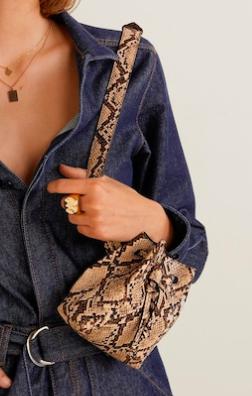 Mango Croc-effect belt bag