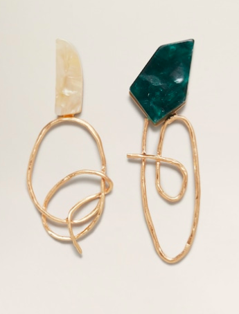Mango Mixed asymmetric earrings