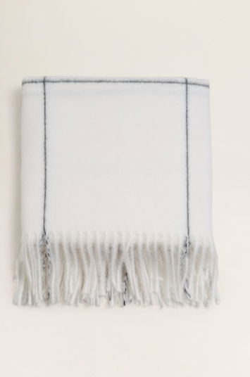 Mango Fringed edge scarf