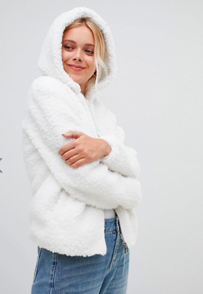 Urban Bliss Teddy Coat with Hood