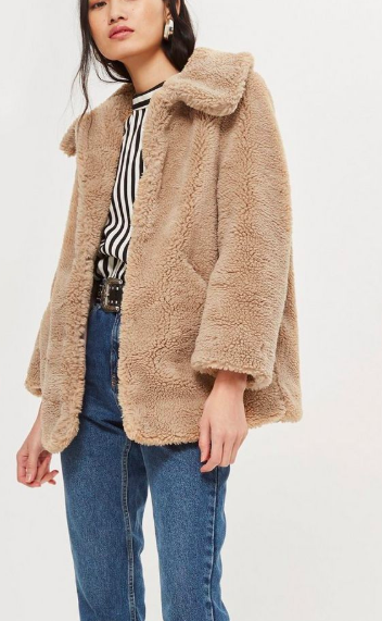 Topshop Lucy Teddy Coat