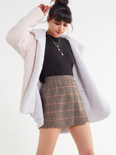 UO Carmella Cozy Reversible Coat
