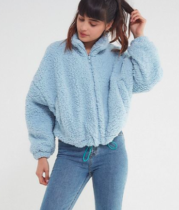 UO Willow Fuzzy Drawstring Jacket $69.00