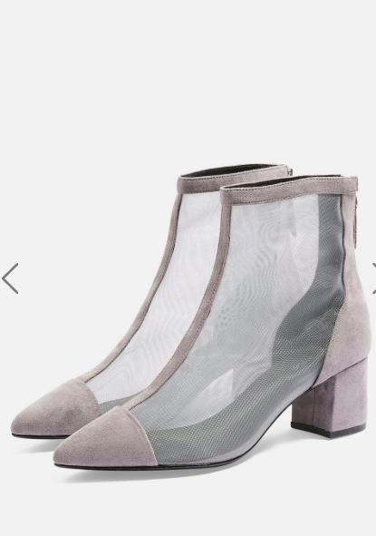 Topshop Briony Mesh Boots