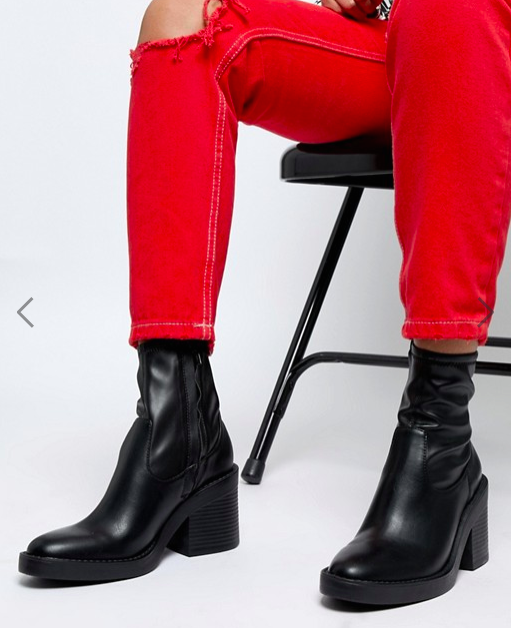 ASOS DESIGN Empower chunky sock boots