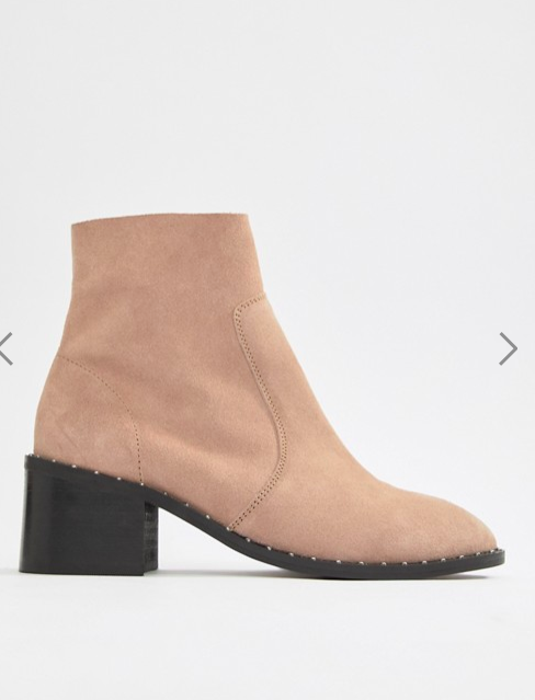 ASOS DESIGN Realm suede mid ankle boots