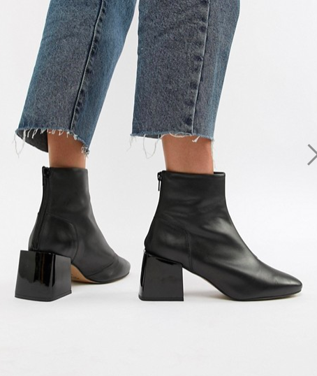 ASOS DESIGN Rome leather ankle boots