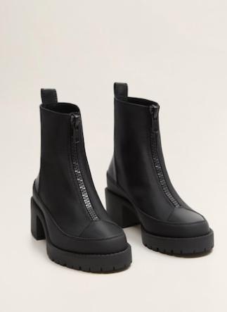 Mango Heel zipped boots