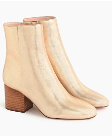 JCREW Sadie ankle boots in metallic gold