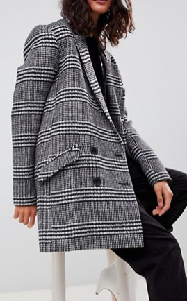 ASOS DESIGN slim coat in check