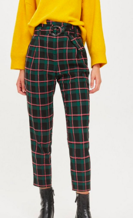 TALL Textured Check Tapered Trousers