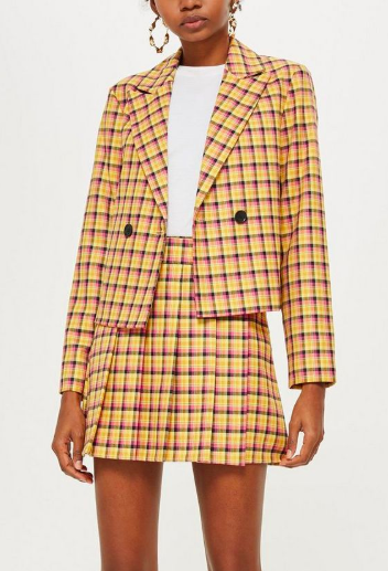 Topshop Yellow Check Suit