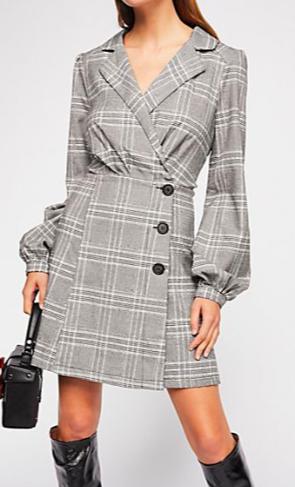 FP Anna Plaid Mini Dress