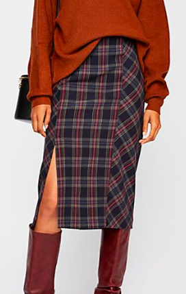 FP See You Glow Plaid Skirt