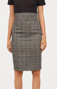 HM Pencil Skirt with Fabric Belt
