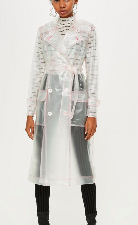 Topshop Vinyl Mac Trench Coat