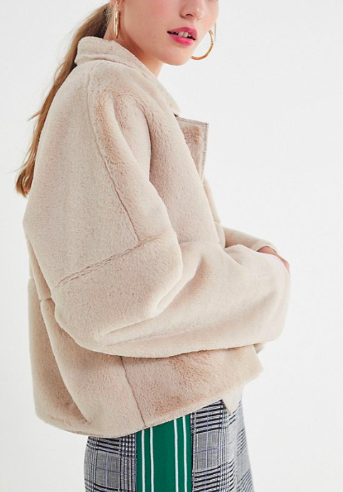 UO Felicity Reversible Faux Fur Jacket