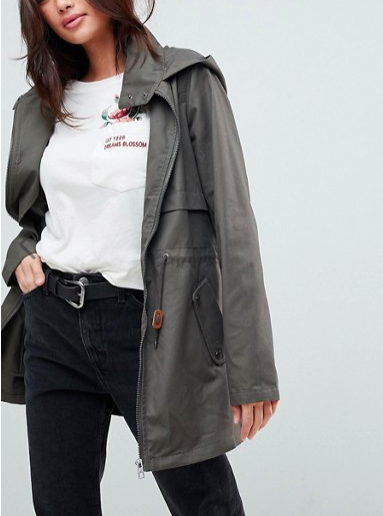 JDY hooded parka jacket