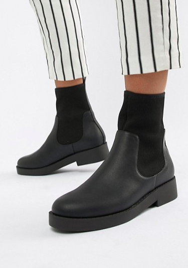 ASOS DESIGN Acai sock ankle boots