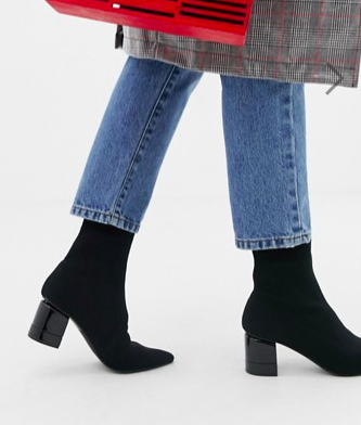 Pull&Bear point toe ankle boot in blackPull&Bear point toe ankle boot in black