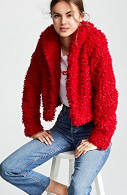 Keepsake Lionheart Cropped Faux Fur Coat