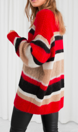 Stories Wool Blend Striped Sweater