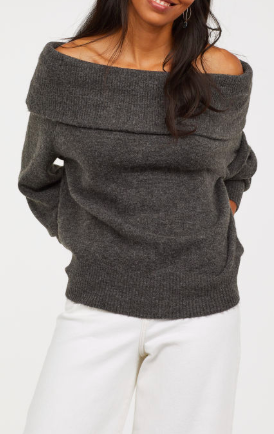 HM Off-the-shoulder Sweater