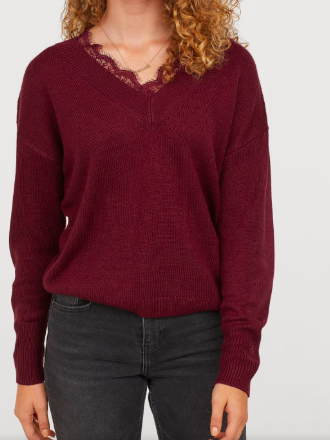 HM Lace-trimmed Sweater