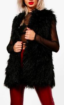 Boohoo Laura Mongolian Faux Fur Gilet