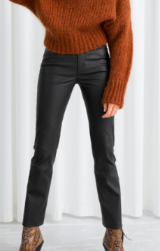 Stories High Waisted Leather Trousers
