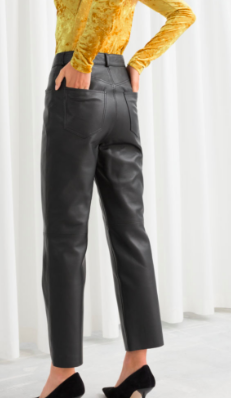 Stories Leather Trousers