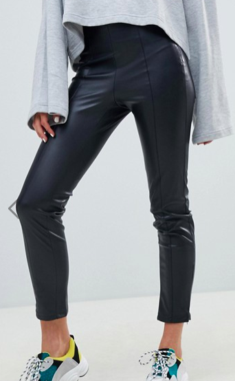 Mango faux leather legging