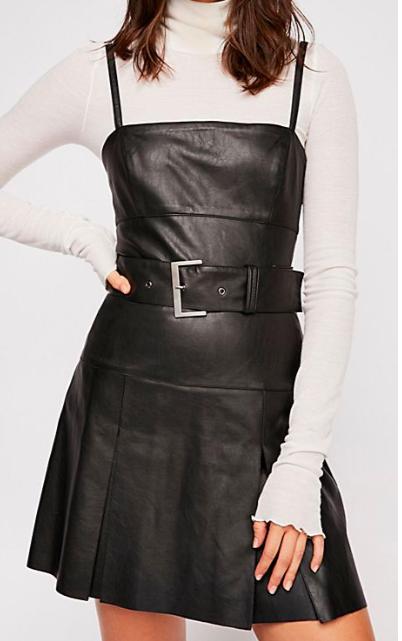 Sweet Talk Vegan Leather Mini Dress