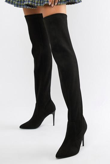 New Look Over The Knee Slim Heel Boot