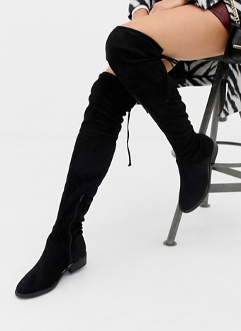 SAUTÉED GARLIC ALMOND GREEN BEANS New Look Over The Knee Flat Boot